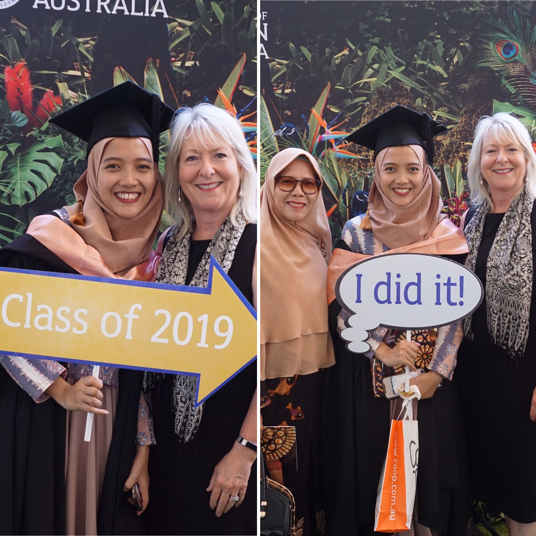Syahani at her Graduation Ceremony UWA 2019